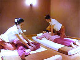How did massage arrive in Thailand?